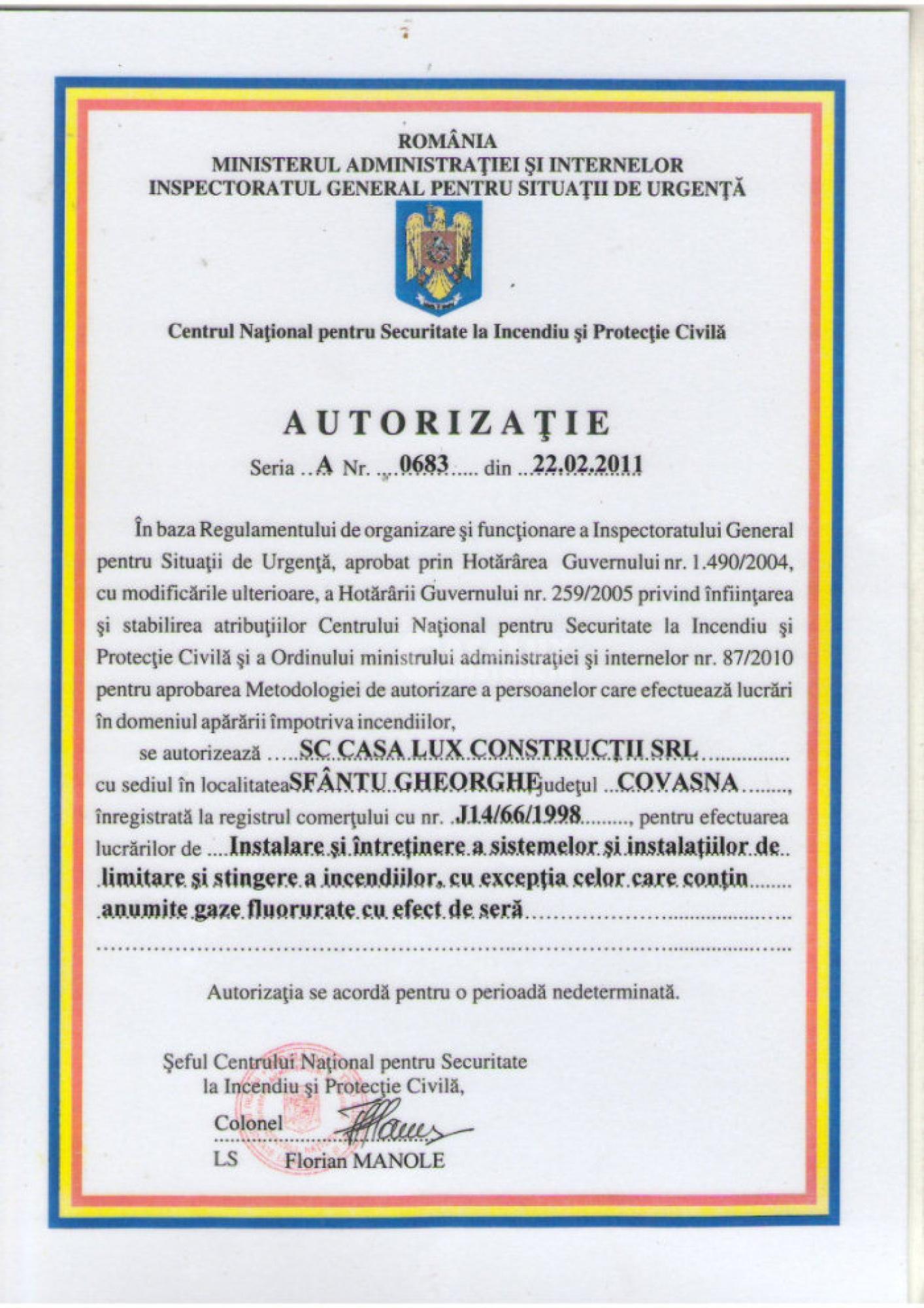 Autorizări 8