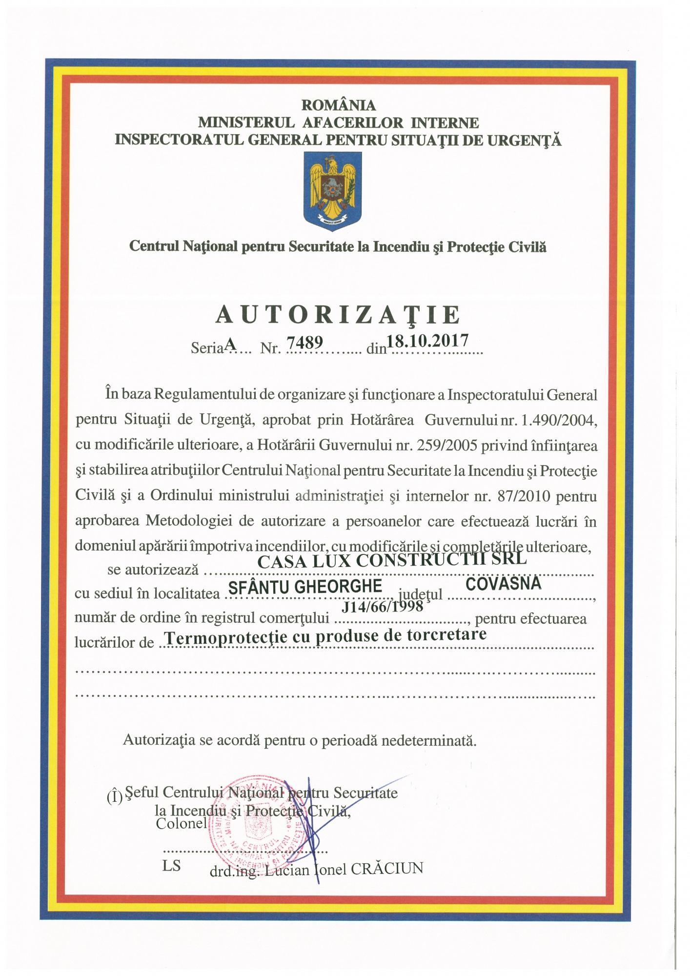 Autorizări 12